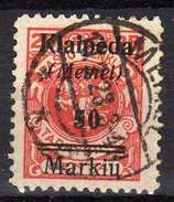 Memel (Klaipeda) 1923 Mi 131, Gestempelt [280117L] - Memelgebiet