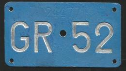 Velonummer Graubünden GR 52 - Placas De Matriculación