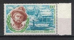 Dahomey 1970, Walt Whitman **, MNH - Bénin – Dahomey (1960-...)