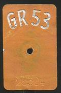Velonummer Graubünden GR 53 - Plaques D'immatriculation
