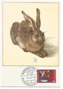 SUISSE CARTE MAXIMUM 1959 LE LIEVRE - Maximumkarten (MC)