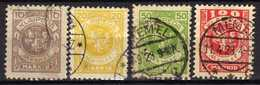 Memel / Klaipeda 1923 Mi 141-142; 145-146, Gestempelt [280117L] - Memelgebiet
