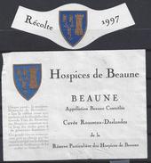 ETIQUETTE BEAUNE  - HOSPICES De BEAUNE - Cuvée Rousseau Deslandes 1997 - Bourgogne