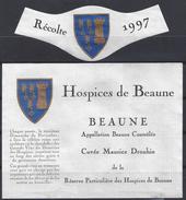 ETIQUETTE BEAUNE - HOSPICES De BEAUNE - Cuvée Maurice Drouhin 1997 - Bourgogne