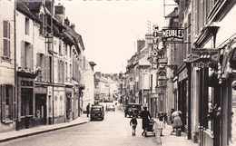 91.ARPAJON. LA GRANDE RUE ANIMÉE. COMMERCES  ANNÉE 1960. - Arpajon