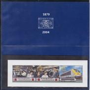 2004 Belgien, Eisenbahnmarken TRV Block 7, MNH **, - Bahnwesen