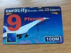 Euro City - 10 DM Concorde Airplane - 9 Pfennig   - Little Printed  -   Used Condition - Deutschland