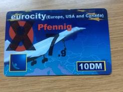 Euro City - 10 DM Concorde Airplane - Overprint 7,9 Pfennig   - Little Printed  -   Used Condition - Deutschland
