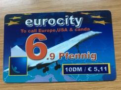 Euro City - 10 DM Concorde Airplane - Overprint 6,9 Pfennig   - Little Printed  -   Used Condition - Deutschland