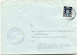 VR 35 Sarre Saar  Lettre Avec Timbre De Service - Lettres & Documents