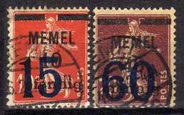 Memel 1921 Mi 34-35, Gestempelt [280117L] - Memelgebiet