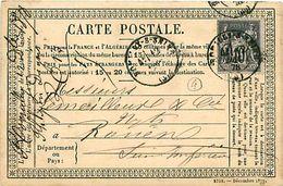 Cpa Précurseur 1878 De ROMILLY SUR SEINE 10 à Paris, Cachet PHLIPO DEGOIS - Romilly-sur-Seine