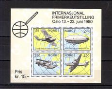 NORVEGE 1979 - Bloc 2 NORWEX 1980 - NEUF ** - Avion / Aviation