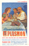 "05453 ""PLASMON -  ALIMENTI SUPERLATIVI - MILANO - 1949"" ANIMATA. CARTA ASSORBENTE - Alimentare"