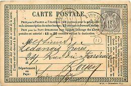 Cpa Précurseur 1878 De FEUQUIERES 60 à Rouen, Cachet VIDAL - France