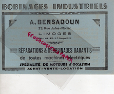 87 - LIMOGES - BUVARD A. BENSADOUN-23 RUE JULES NORIAC- BOBINAGES INDUSTRIELS-TSF- SATOR-TUNGSRAM-RAGONOT-DELCO-JAPY - Automotive