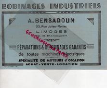 87 - LIMOGES - BUVARD A. BENSADOUN-23 RUE JULES NORIAC- BOBINAGES INDUSTRIELS-TSF- SATOR-TUNGSRAM-RAGONOT-DELCO-JAPY - Automóviles