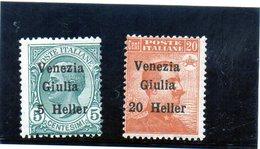 B - Italia 1918  - Venezia Giulia Soprastampati (linguellati) - Occupation 1ère Guerre Mondiale