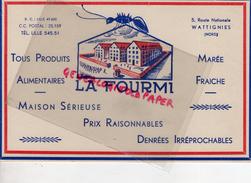 59 - WATTIGNIES- BUVARD LA FOURMI- PRODUITS ALIMENTAIRES- 5 ROUTE NATIONALE - Food