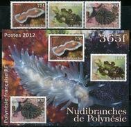 FRENCH POLYNESIA 2012 Sea Slugs Marine Life Animals Fauna MNH - Polynésie Française