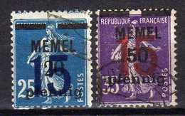 Memel 1921 Mi 47-48, Gestempelt [280117L] - Memelgebiet