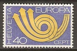 SUISSE      -   1973.    Y&T N° 925 Oblitéré.   EUROPA - Switzerland