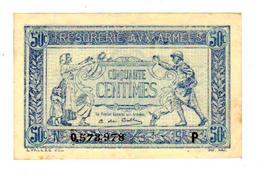 Trèsorerie Aux  Armèes  - Cinquante Centimes 1917-1919 - 1917-1919 Trésorerie Aux Armées