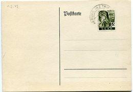 VR 38 Sarre Saar Carte Postale Non Voyagée Oblitération SAARBURG 'BZ TRIER) 1.2.47 - Lettres & Documents
