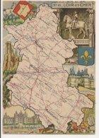 L20E002 - Loir Et Cher - Carte Géographique Du Département  - Blason -  J.P.Pinchon - Blondel Et Rougery N°41 - Francia