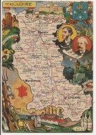L20E003 - Loire - Carte Géographique Du Département  - Blason -  J.P.Pinchon - Blondel Et Rougery N°42 - FM - Francia