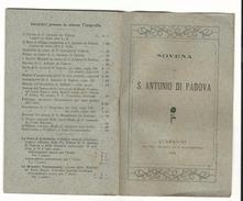 Libro Religioso Novena Di S. Antonio Da Padova 1924 Ed.Quaracchi - Libri, Riviste, Fumetti
