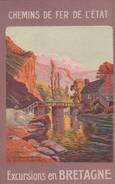 """Vallée Du Gouëssant (environs De St Brieuc) - Carte Publicitaire Authentique """" Chemin De Fer De L'Etat"""" Scan Recto-verso - France"""