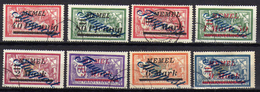 Memel (Klaipeda) 1922 Mi 72-74; 76-78; 82-83, Gestempelt, Flugpost / Air Mail [280117L] - Memelgebiet