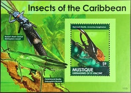 Mustique 2011 Insects Beetle Minisheet MNH - Insectes