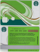 Starbucks - UK - 2012 - CN 6131 SB92 Coffee Aroma - Gift Cards
