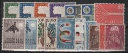 Europa 1957 Série Complète De 17 Valeurs Neuves Avec Lègères Traces De Charnière - Europa-CEPT