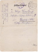 #7179 Germany, WW1 Military Letter, Feldpostbrief Mailed 1917 From Infantry Regiment 65 To Ersatz Komp. Strelitz Alt - Allemagne