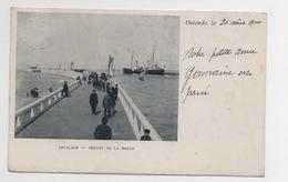 BELGIQUE - OSTENDE Estacade, Départ De La Malle, Pionnière - Oostende