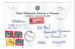 SEGNATASSE ALTO VALORE 900 LIRE1985 RACCOMANDATA - 6. 1946-.. Repubblica