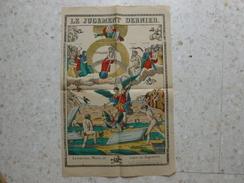 IMAGERIE D'EPINAL LE JUGEMENT DERNIER - Images Religieuses