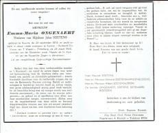 2310 EMMA ONGENAERT KUURNE 1876 + KORTRIJK 1960 - Devotion Images