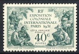 Costa Dei Somali 1931 N. 137 C. 40 Verde MNH Cat. € 12.50 - Unused Stamps