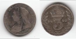 **** GREAT BRITAIN - GRANDE-BRETAGNE - 3 PENCE 1895 VICTORIA - SILVER - ARGENT **** EN ACHAT IMMEDIAT !!! - 1816-1901 : Frappes XIX° S.