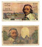 10 NF - 1959 - 1963 RICHELIEU Lot De 2 1960 Et 1961 - 1959-1966 ''Nouveaux Francs''