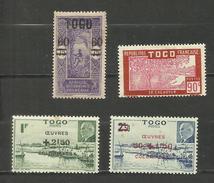 Togo N°114, 146, 226, 227 Neufs Avec Charnière* Cote 3.70 Euros - Neufs