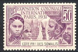 Costa Dei Somali 1931 N. 138 C. 50 Violetto MNH Cat. € 12.50 - Unused Stamps