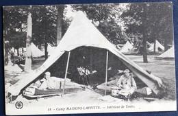 CPA 78 Camp Maisons Laffitte CET 46 RI Régiment Infanterie Intérieur De Tente - Casernes