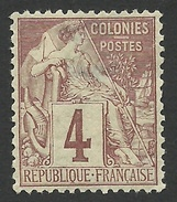 French Colonies, 4 C. 1881, Sc # 48, Mi # 47, MH. - Alphee Dubois