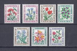 ANDORRE. YT Timbre-Taxe .46/52  Flore. Fleurs Des Champs 1964-71 Neuf ** - Timbres-taxe