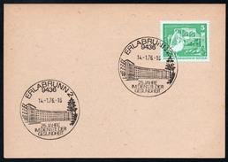 A0226 - Alte Postkarte - Erlabrunn - Sonderstempel - N. Gel 1976 - DDR